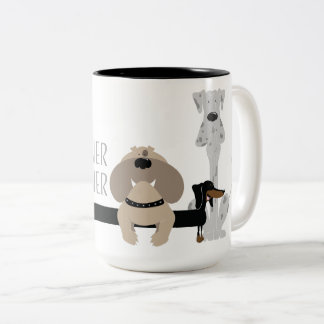 Weiner Inbetweener Two-Tone Coffee Mug
