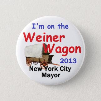Weiner NYC Mayor 2013 6 Cm Round Badge