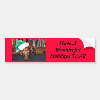 Weiner Sticker for Holidays Bumper Sticker