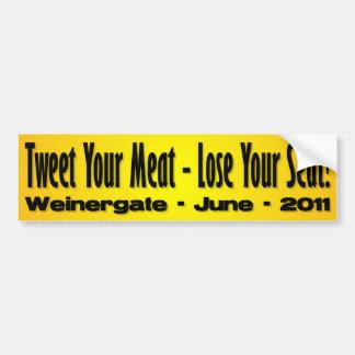 Weinergate 2011 - Anthony Weiner Car Bumper Sticker