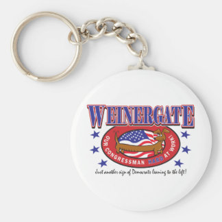 Weinergate - The Congressmans Weiner Basic Round Button Key Ring