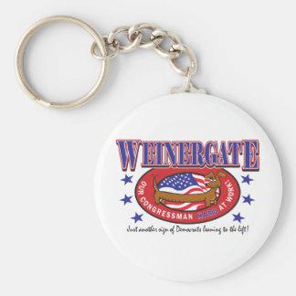 Weinergate - The Congressmans Weiner Basic Round Button Key Ring