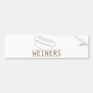 WEINERS BUMPER STICKER