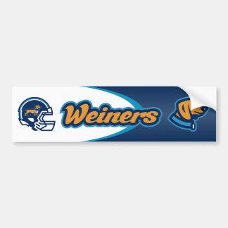 Weiners Football Bumper Sticker