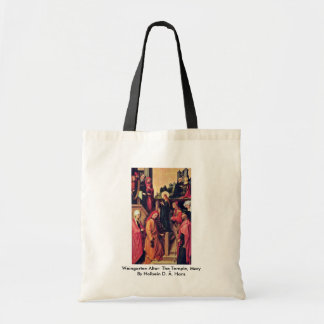 Weingarten Altar: The Temple, Mary By Holbein D. Ä Budget Tote Bag