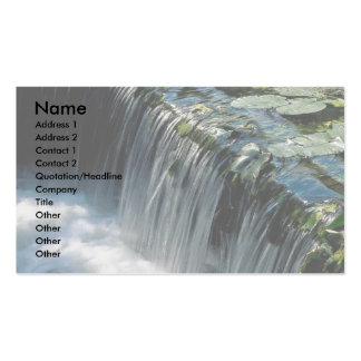 Weir on river pack of standard business cards