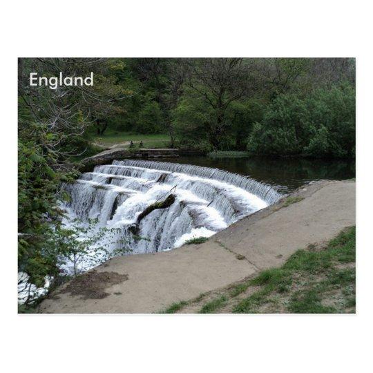 Weir River Rye, Peak District, Derbyshire, England Postcard