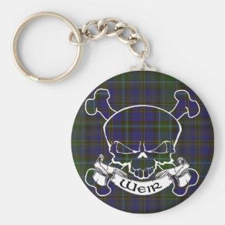 Weir Tartan Skull Key Ring