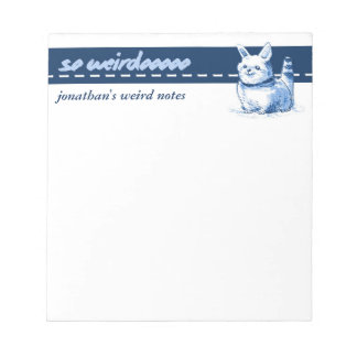 weird and funny cat cartoon notepad