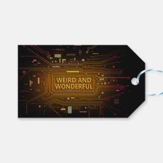 Weird and wonderful. gift tags