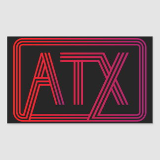 Weird ATX Rectangular Sticker