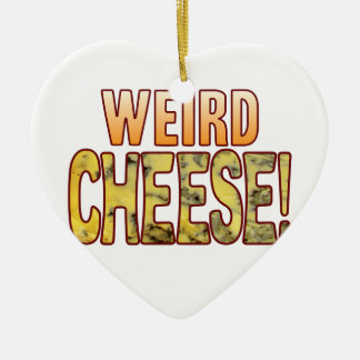 Weird Blue Cheese Ceramic Heart Decoration