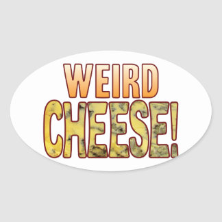 Weird Blue Cheese Oval Sticker