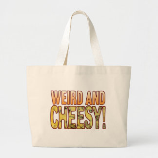 Weird Blue Cheesy Large Tote Bag