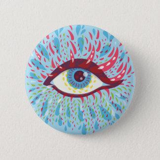 Weird Blue Psychedelic Eye 6 Cm Round Badge
