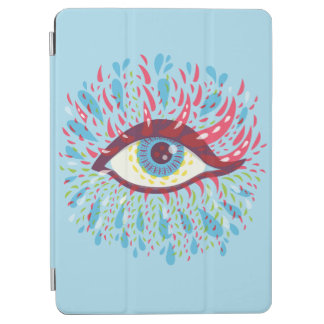 Weird Blue Psychedelic Eye iPad Air Cover