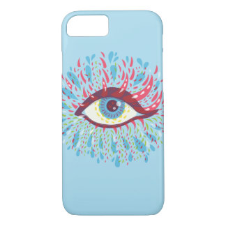 Weird Blue Psychedelic Eye iPhone 8/7 Case