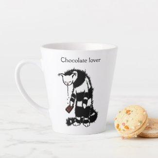 Weird Cat Creature Drooling Chocolate Lover Latte Mug