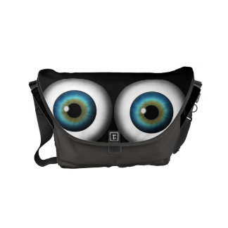 Weird Creepy Funny Blue Eyeball Eye Messenger Bags