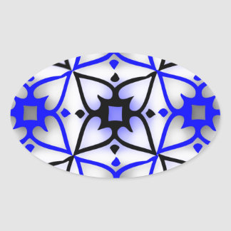 weird design 2.jpg oval sticker