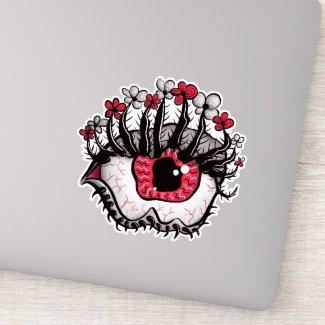 Weird Eye Melt Creepy Psycho Psychedelic Art