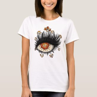 Weird Eye Of Lava Digital Art T-Shirt