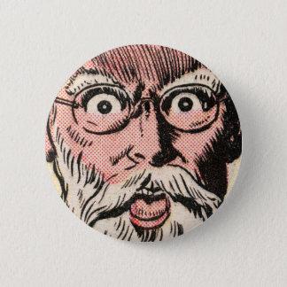 Weird Face Close Up! 6 Cm Round Badge