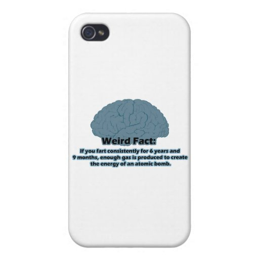 Weird Fact - Atomic Fart iPhone 4 Cover