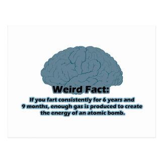 Weird Fact - Atomic Fart Postcard