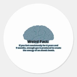 Weird Fact - Atomic Fart Classic Round Sticker