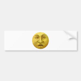 Weird Funny Vintage Moon Man Bumper Sticker