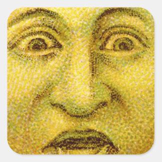 Weird Funny Vintage Moon Man Sticker