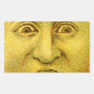 Weird Funny Vintage Moon Man Rectangular Sticker