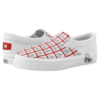 Weird Human Behavior Plaid Bicycle Slip On Shoes
