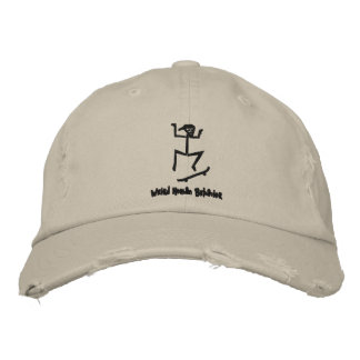 Weird Human Behavior Skateboarder Distressed Cap