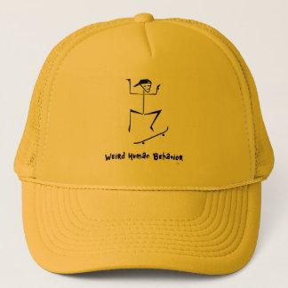 Weird Human Behavior Skateboarder Trucker Hat