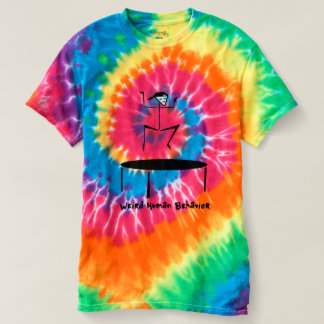 Weird Human Behavior Trampoline Tie-Dye T-Shirt