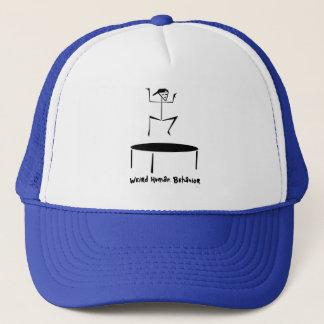 Weird Human Behavior Trampoline Trucker Hat