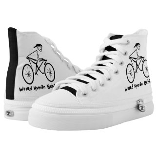 Weird Human Behaviour Bicycle Zipz High Top Shoes