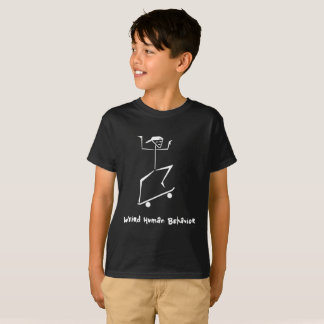Weird Human Behaviour Kids Hanes Skateboard T-Shirt