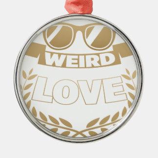 weird love christmas ornament