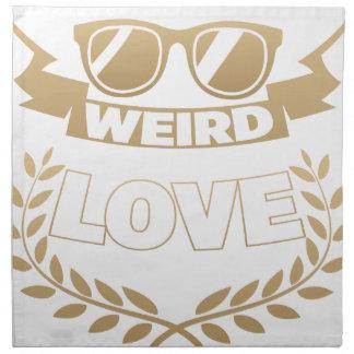 weird love napkin