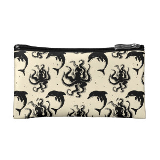 Weird Octopuses and Dolphins | Cosmetic Bag