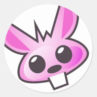 Weird pink bunny sticker