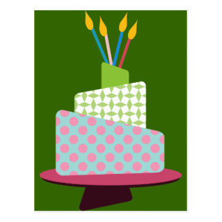 Weird Polka Dotted Birthday Cake Postcards