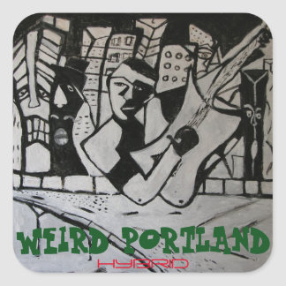 WEIRD PORTLAND HYBRID SQUARE STICKER