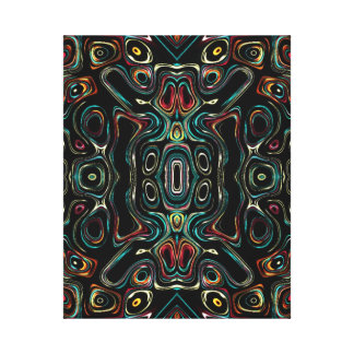 Weird Psychedelic abstract 2552 Canvas Print