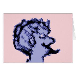 Weird Purple Alien Male Note Card