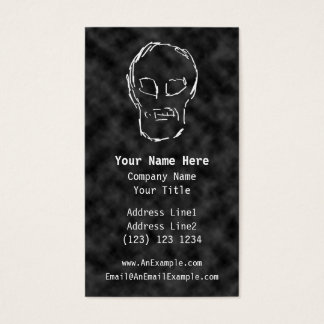 Weird Skull. White. Sketch. Business Card