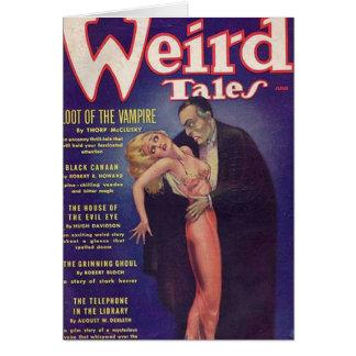 Weird Tales Vampire Comic Book Card